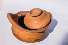 Stock Photo of Clay pot of a community