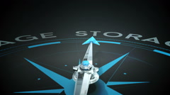 Compass pointing to cloud storage Stock Footage