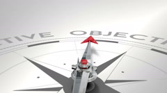 Compass pointing to objective - stock footage