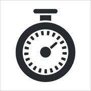 Vector illustration of single timer icon - stock illustration