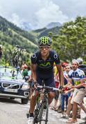 Andrey Amador Climbing Alpe D'Dhuez Stock Photos