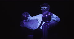 Glow Man UV Discoball Style 5 Stock Footage