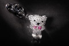 Beautiful pendant in bear shape Stock Photos