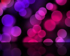 bokeh lights in pink - stock photo