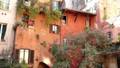 Old Traditional Picturesque Homes In Rome Roma Italy Italia Stock Footage