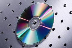 cd on silver design - stock photo