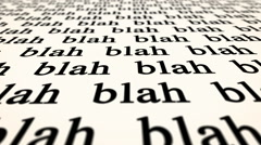 Blah blah - newspaper text placeholder Stock Footage