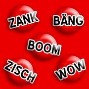 Icon sign comic boom Stock Illustration