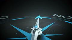 Compass pointing to yes - stock footage