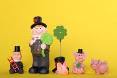 lucky charm with chimney-sweep - stock photo