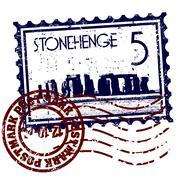 Vector illustration of single Stonehenge icon - stock illustration
