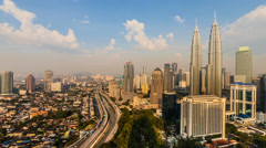 Kuala Lumpur Sunrise Timelapse - 4K resolution - Pan Effect Stock Footage