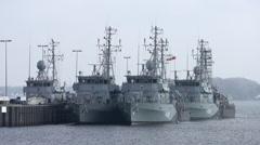 Naval Vessel Kiel Germany 3 - stock footage