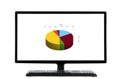 Pc keyboard and monitor Stock Photos