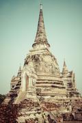 Wat Phrasisanpetch in the Ayutthaya Historical Park, Ayutthaya, Thailand. Stock Photos