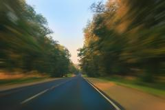 country highway - stock photo