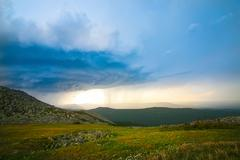 Stock Photo of thunder-storm and rain in mountains