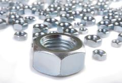 Stock Photo of metal shine nuts