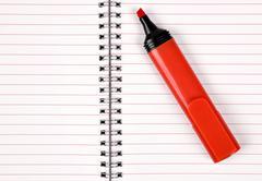 red felt-tip - stock photo
