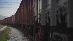 Railway freight train - stock footage