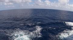 Ocean waves in the deep blue sea Stock Footage