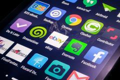 Application icons - stock photo