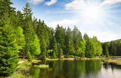 Small Arber Lake - stock photo