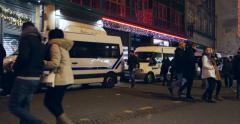 Police vans Stock Footage