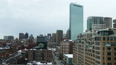 Boston above the Apple Store - stock footage