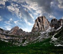 Dolomite peaks, Rosengarten Stock Photos