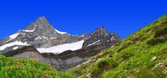 Zinalrothorn - Swiss alps  - stock photo