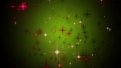 Wonderful christmas animation with moving stars and lights, 4096x2304 loop 4K - stock footage