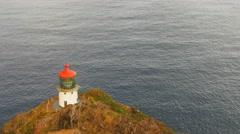 Lighthouse at makapuu Stock Footage
