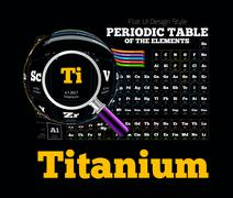 Periodic Table of the element. Titanium - stock illustration