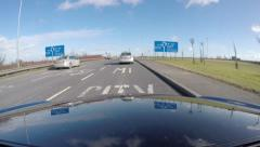 Time Lapse, Dublin Airport-Dublin Port Tunnel Stock Footage