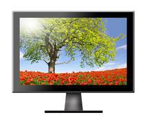 TV flat screen lcd - stock photo