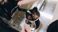 making coffee - stock footage