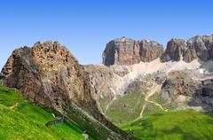 Dolomite peaks,Sella - stock photo