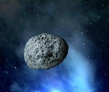 large asteroid  - stock photo