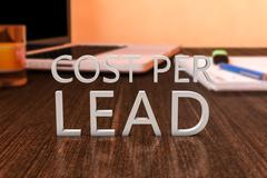 Cost per Lead Stock Illustration