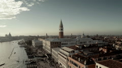 Aerial view of  St. Mark's Square at Venice Stock Footage