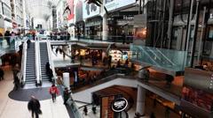 4K UltraHD A timelapse view of Toronto's Eaton Center Stock Footage