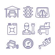 Car service  maintenance icon, Auto repair vector - stock illustration