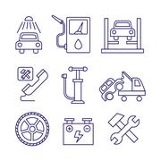 Car service  maintenance icon, Auto repair vector Stock Illustration