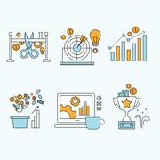 Stock Illustration of flat design  website development, graphic design, branding, seo