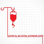 Creative World Blood Donor Day Greeting stock vector - stock illustration