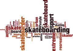 Skateboarding word cloud Piirros