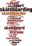 Stock Illustration of Skateboarding word cloud