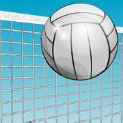 ball and net - stock illustration