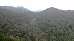 "Aerial View Of Langkawi ""Telaga Tujuh"" Or Seven Wells Waterfall Stock Footage"